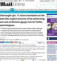 Slane girl picture Explicit photos from Eminem Slane: MailOnline